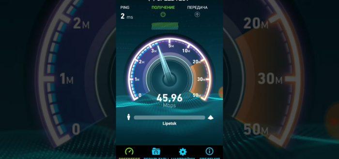 скорость интернета от Ростелекома