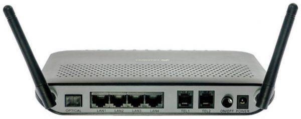 Внешний вид GPON-модема с функцией Wi-Fi-маршрутизатора