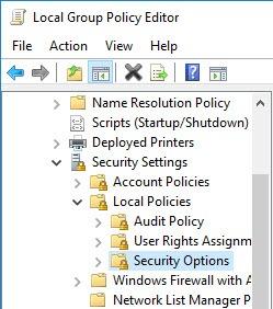 Настройки локальных политик безопасности Windows 10 в программе GPEdit.exe
