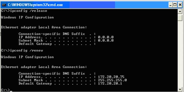 Сброс параметров DNS-сервера