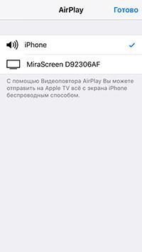 Выбор экрана для проецирования