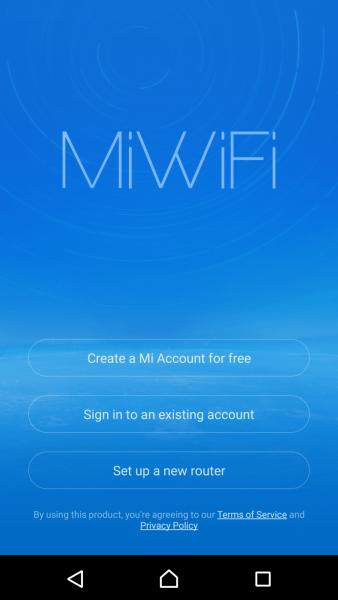 Переход к регистрации на miwifi.com и в настройки Xiaomi 3