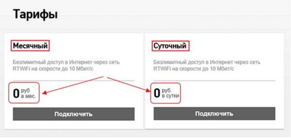 Тариф по услуге «Интернет дома»