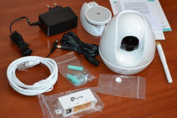 Комплектация облачной камеры TP-Link NC-450