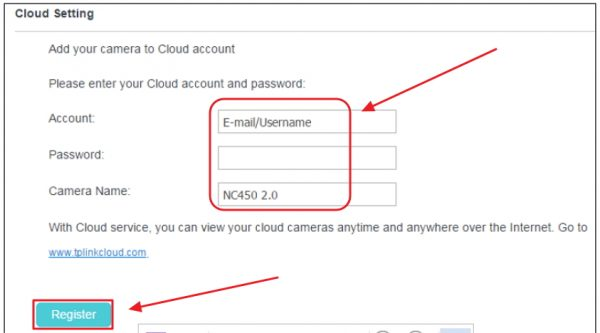 Подключение камеры к сервису TP-LINK Cloud