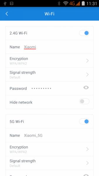 Управление диапазонами и настрройками Wi-Fi на Xiaomi