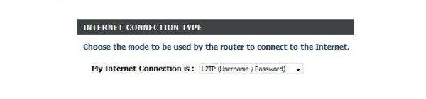 Выбор типа интернет-соединения для DIR-655