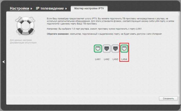 Выбор порта для цифровой тв-приставки