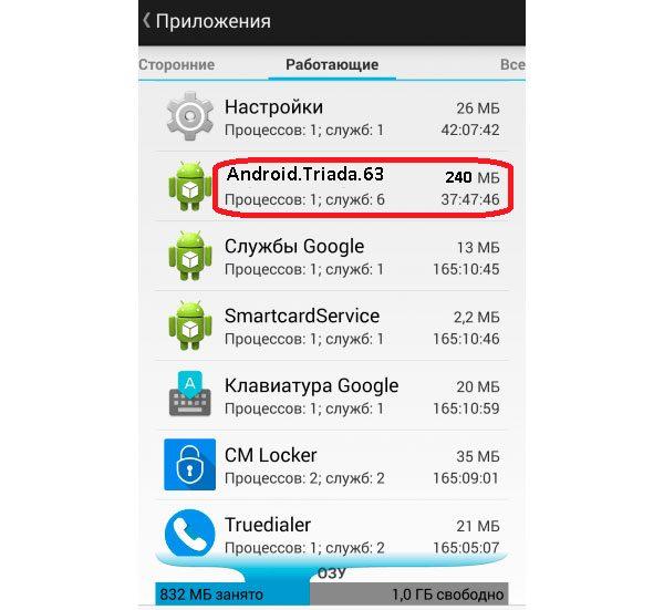 Вирусный процесс в Android
