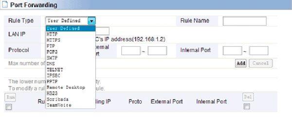 Адресация портов по шаблону