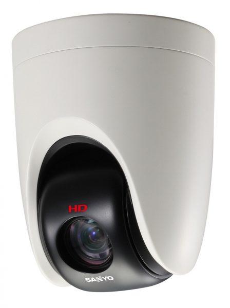 Потолочная полукупольная удлинённая PTZ-камера Sanyo HD