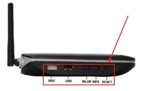 Боковая панель маршрутизатора Huawei HG8245