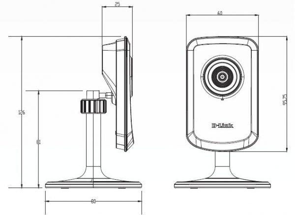 Габариты IP-камеры DCS-930L