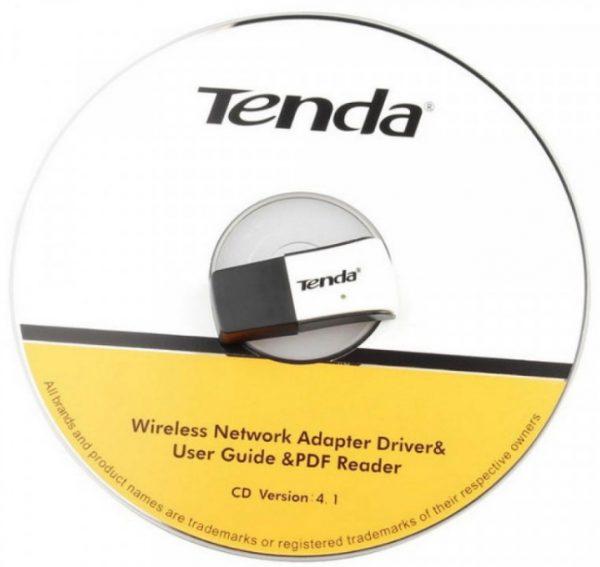 Оптический диск с драйверами адаптера Tenda W311M