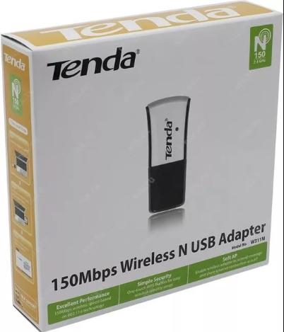 Упаковка адаптера Tenda W311M
