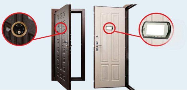 Входная дверь с Wi-Fi-видеоглазком