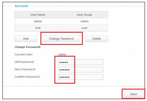 Изменение пароля администратора
