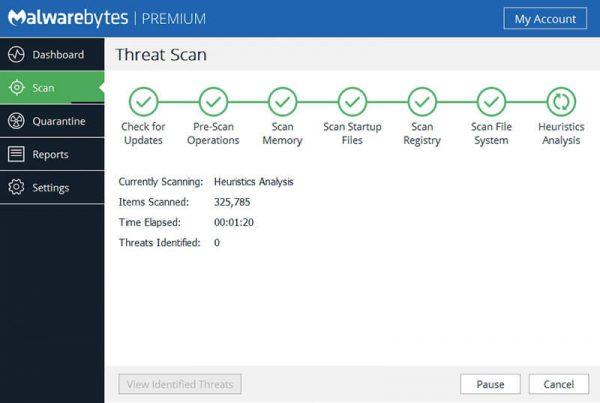Приложение Malwarebytes Anti-Malware
