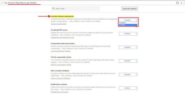 Аппаратные настройки браузера на основе технологии Chromium