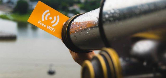 Бесплатный Wi-Fi часто попадается в городах