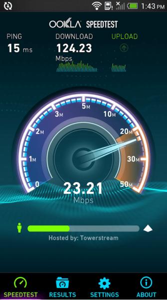 Анализ скорости на мобильном устройстве