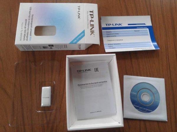 Комплектация адаптера TP-LINK TL-WN723N