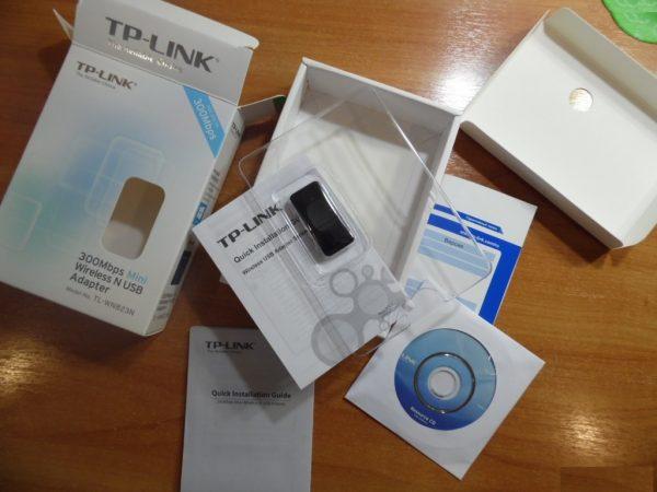 Комплектация адаптера TP-Link TL-WN823N