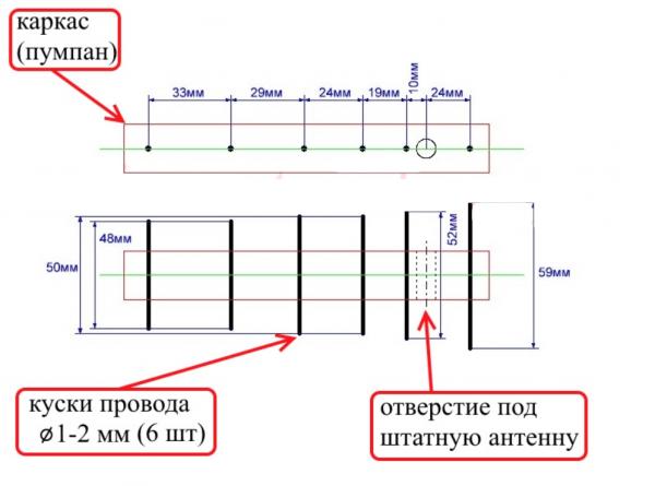 Схема насадки