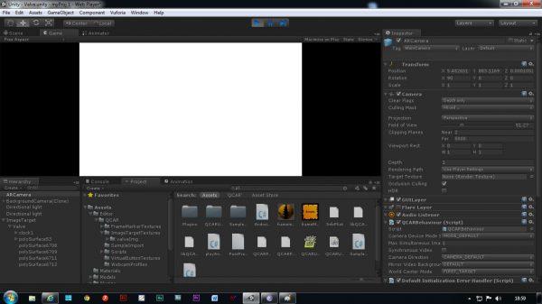Рабочее окно «веб-навигатора» в приложении Unity Web Player