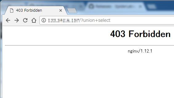 Окно ошибки 403