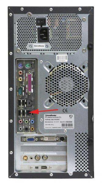 Разъёмы USB на задней панели блока