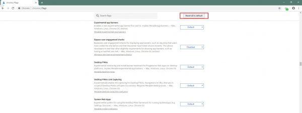 Как сбросить изменения в скрытых настройках Google Chrome
