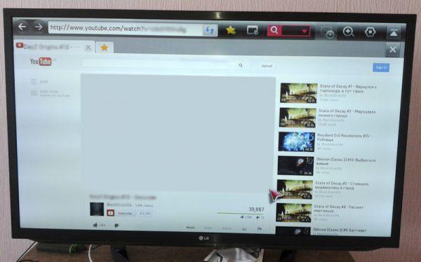 Проблема воспроизведения видео через браузер на LG Smart TV