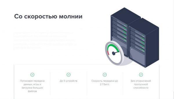 Скорость работы SecureLine VPN