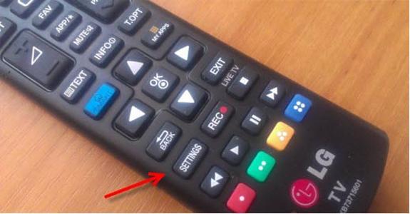 Пример пульта для телевизора LG