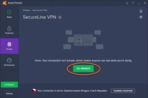 Кнопка «Обеспечить конфиденциальность»