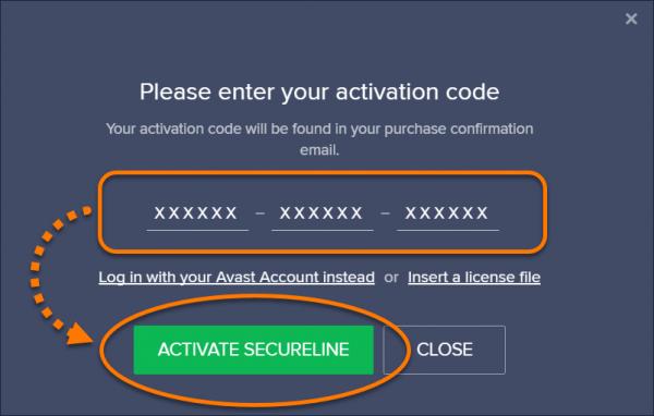 Код активации SecureLine