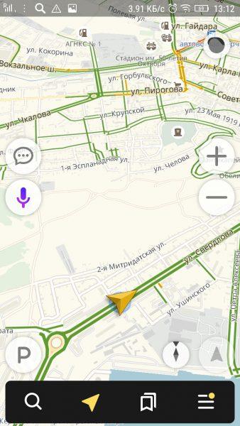 Карта навигатора