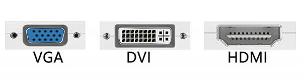 Порты VGA, DVI, HDMI
