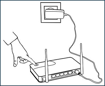 Нажатие на клавишу WPS