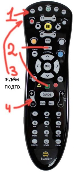 Кнопка STB