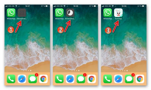 Процесс установки TutuApp