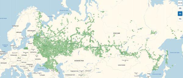 3G покрытие МТС