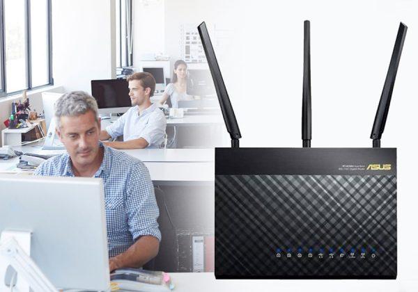 Роутер ASUS можно использовать в офисе
