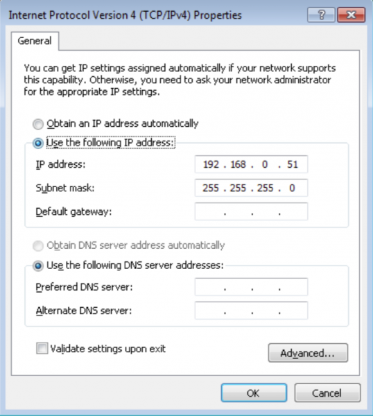 Настройки IP