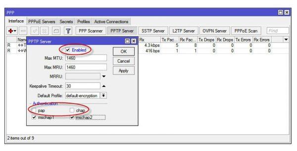 PPtP сервер