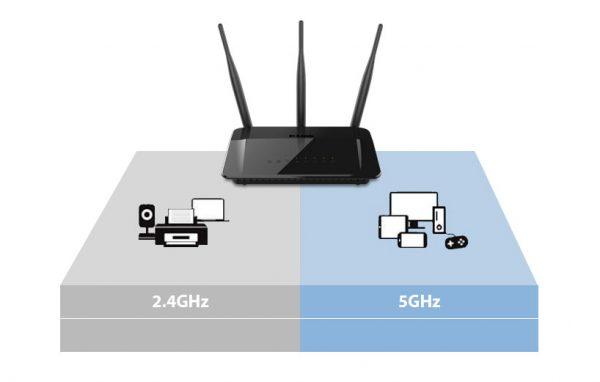 Роутер с поддержкой двух частот: 2,4 ГГЦ и 5 ГГц