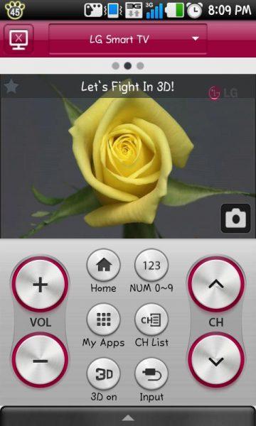 Приложение LG TV Remote