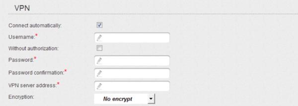 Логин/пароль от L2TP