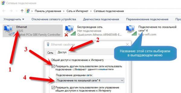 Как дать доступ виртуальной сети